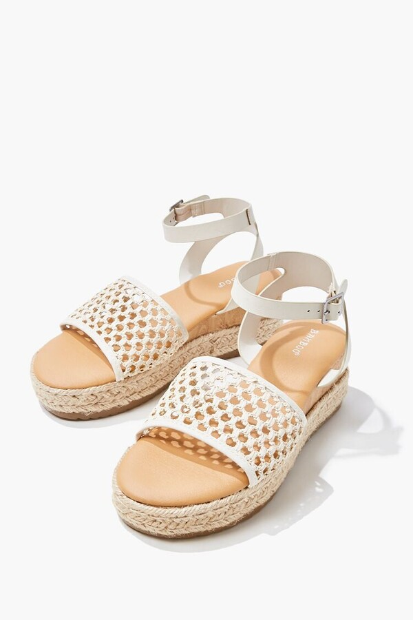 Thumbnail for your product : Forever 21 Ankle-Strap Espadrille Wedges
