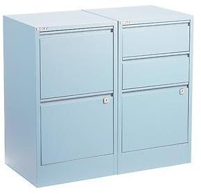 Bisley 2-Drawer File Cabinet Light Blue