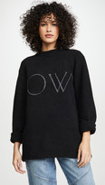 Off-White Off White Knit Oversize Sweater
