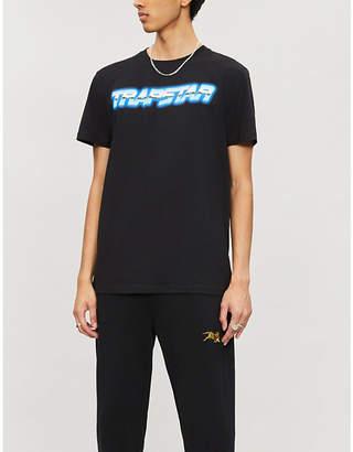 Selfridges Trapstar Midnight Chrome Racer cotton-jersey T-shirt