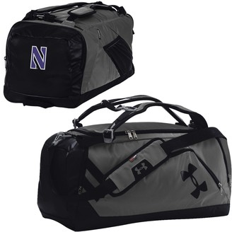 Under Armour Graphite/Black Northwestern Wildcats Good Performance Backpack Duffel Bag