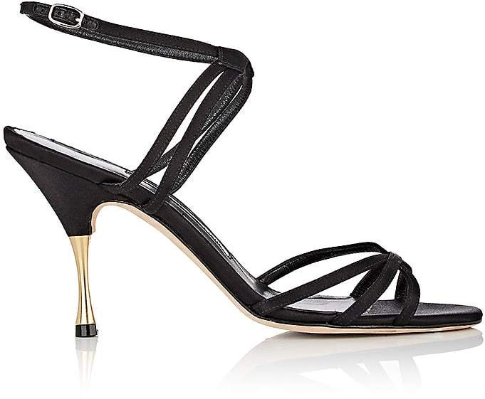 Manolo Blahnik Women's Naro Satin Sandals