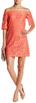 Donna Morgan Lace Off-the-Shoulder Dress