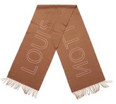 Louis Vuitton Brown Cashmere Perforated Scarf.