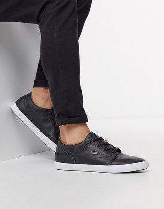 Lacoste bayliss vulc sneakers in black leather