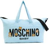 Moschino Kids logo baby bag