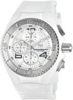 Technomarine Women's Cruise JellyFish 40mm White Silicone Band Steel Case Swiss Quartz Watch TM-115102