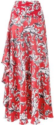 J.W.Anderson Asymmetric Draped Maxi-Skirt