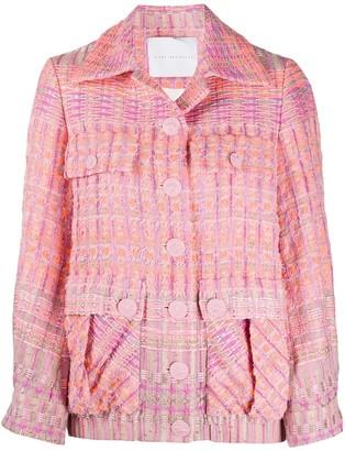 Giada Benincasa Tweed Flap Pockets Jacket