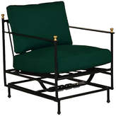 One Kings Lane Frances Motion Lounge Chair - Green Sunbrella