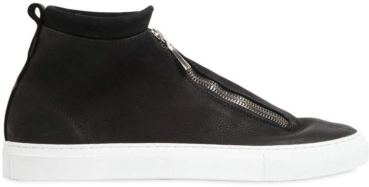 Diemme Fontesi Zipped Nubuck High Top Sneakers