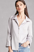 Forever 21 FOREVER 21+ Sheeny Satin Shirt