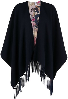 Salvatore Ferragamo Reversible Fringed Shawl