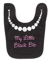 Sara Kety My Little Black Bib with White Pearls