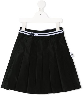 Gcds Kids logo lined A-line skirt