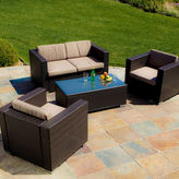 JCPenney Murano 4-pc. Outdoor Wicker Sofa Set