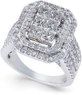 Macy's Diamond Engagement Ring (3 ct. t.w.) in 14k White Gold