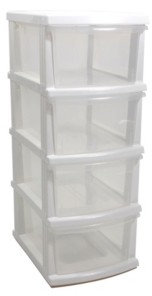 Taurus A3 S Series 4 Clear Drawer Storage Organizer Kd