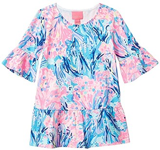 Lilly Pulitzer Sorrento Dress (Toddler/Little Kids/Big Kids) (Periwinkle Purple Fan Sea Pants) Girl's Clothing