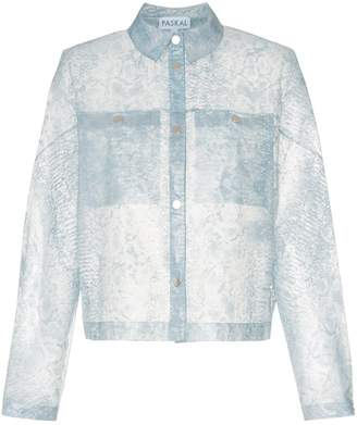PASKAL clothes Reflective translucent printed jacket