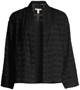 Eileen Fisher High Collar Organic Cotton Jacket
