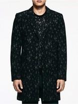 Calvin Klein Platinum Marbled Tailored Coat