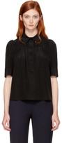 Marc Jacobs Black Silk Collar Pin Blouse