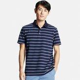 Uniqlo Men's Dry Pique Striped Polo Shirt