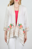 Johnny Was Embroider Floral Cardigan