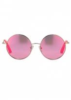 Matthew Williamson Neon Pink Round Revo Sunglasses