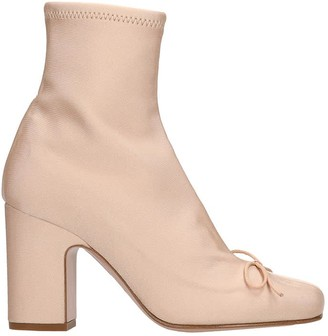 RED Valentino Ankle Boots In Rose-pink Tech/synthetic