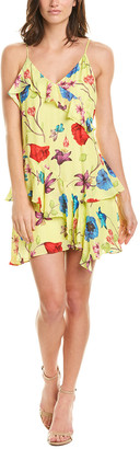 Parker Holly Silk-Blend Mini Dress