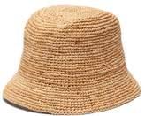 Gucci Straw Bucket Hat - Womens - Beige