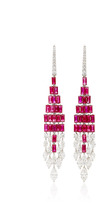 Martin Katz Diamond and Ruby Tassel Earrings