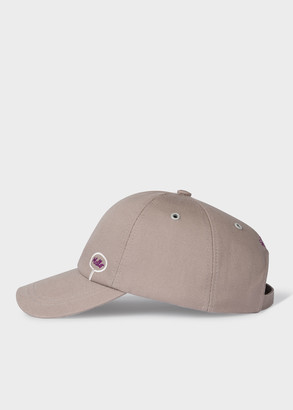 Paul Smith + Christoph Niemann - Grey 'Hello Goodbye' Embroidered Cotton Baseball Cap