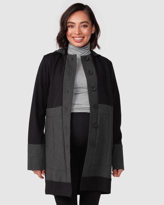 Pea In A Pod Maternity Lia Hooded Ponte Coat