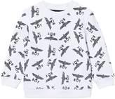 Boy London White and Black Repeat Logo Sweatshirt