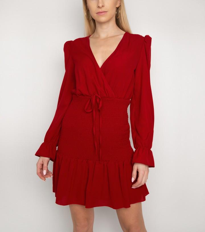New Look Gini London ShirFrill Wrap Dress