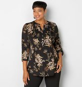 Avenue Smocked Floral Popover Blouse