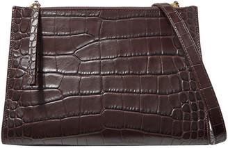 Nanushka Izabel Croc-effect Vegan Leather Shoulder Bag