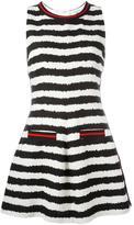 MSGM striped flared dress - women - Cotton/Linen/Flax/Polyamide/Viscose - 40