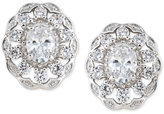 Carolee Silver-Tone Crystal Stud Earrings