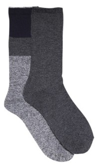 Trendilize Laundry by Shelli Segal Women's Soft Comfort 2 Pack Solid Ribbed Casual Boot Socks