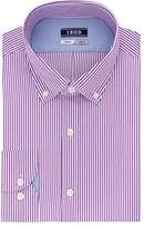 Izod Men's Slim Fit Stripe Buttondown Collar Dress Shirt