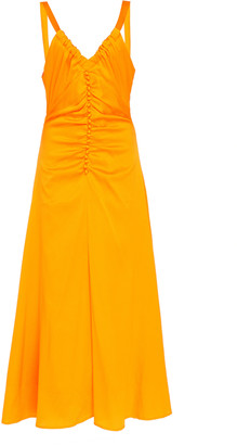 REJINA PYO Toni Button-Detailed Crepe de Chine Midi Dress