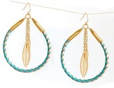 Kris Nations Mesilla Rope and Feather Earring