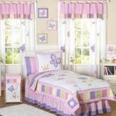 JoJo Designs Sweet Butterfly 4-Piece Twin Bedding Set in Pink/Purple