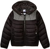 HUGO BOSS Nylon Fancy Lining Puffer Coat (Kid) - Black - 12A
