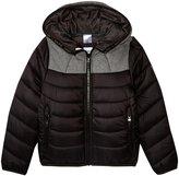 HUGO BOSS Nylon Fancy Lining Puffer Coat (Kid) - Black - 4A