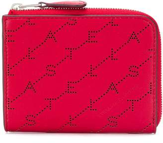 Stella McCartney Monogram small zipper wallet